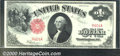 """1917 $1 Legal Tender Note, Fr-39, Choice CU. A beautiful example with a low serial number that is also a """"radar&quo..."""