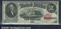 1880 $2 Legal Tender Note, Fr-56, Gem CU. The first of two consecutively numbered notes, both display ideal centering an...