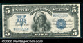 1899 $5 Silver Certificate, Fr-279, XF. This attractive example with the scarcer signature combination of Elliott-Burke...