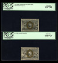 Fractional Currency:Second Issue, Three Very Scarce 25c Second Issue Numbers.... (Total: 3 notes)