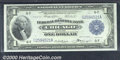 1918 $1 Federal Reserve Bank Note (Chicago), Fr-727, Choice CU+. Very well centered and potentially a Gem, save for a co...