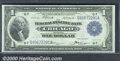 1918 $1 Federal Reserve Bank Note (Chicago), Fr-729, Choice CU. A crisp, well centered example with decent embossing and...