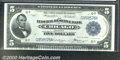 Large Size:Federal Reserve Bank Notes, 1918 $5 Federal Reserve Bank Note (Chicago), Fr-794, Choice CU....