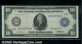 1914 $10 Federal Reserve Note (Dallas), Fr-944, AU. A well centered large size $10 from the popular (here in Texas) K di...