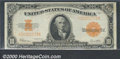 Large Size Gold Certificates:Large Size, 1922 $10 Gold Certificate, Fr-1173, VF-XF. A few light stains a...