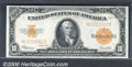 Large Size Gold Certificates:Large Size, 1922 $10 Gold Certificate, Fr-1173, Choice AU. Almost perfect c...
