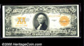 Large Size Gold Certificates:Large Size, 1922 $20 Gold Certificate, Fr-1187, VF-XF. This crisp example h...