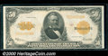 Large Size Gold Certificates:Large Size, 1922 $50 Gold Certificate, Fr-1200, VF-XF. A crisp, well ce...