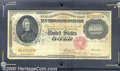 Large Size Gold Certificates:Large Size, 1900 $10,000 Gold Certificate, Fr-1225, Fine. A cancelled and r...