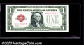 Small Size:Legal Tender Notes, 1928 $1 Legal Tender Note, Fr-1500, Choice CU. This crisp, orig...