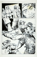 Original Comic Art:Panel Pages, Barry Smith and Bob Wiacek - Archer and Armstrong #8, page 32 Original Art (Valiant, 1992)....