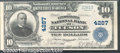 Consolidated National Bank of Tucson, AZ, Charter #4287. 1902 $10 Third Charter Plain Back, Fr-620, AU. This is an excep...