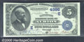 Citizens National Bank of Albion, NY, Charter #4998. 1882 $5 Second Charter Date Back, Fr-534, Choice AU. An impressivel...