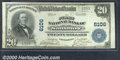 National Bank Notes:Pennsylvania, First National Bank of Salisbury, PA, Charter #6106. 1902 $20 T...