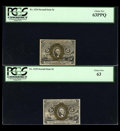 Fractional Currency:Second Issue, Three Second Issue Five Cent Notes.... (Total: 3 notes)