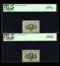 Fractional Currency:First Issue, Ten Cent First Issue Grouping.... (Total: 4 notes)