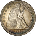 Seated Dollars, 1873-CC $1 AU55 NGC....