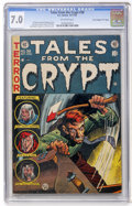 "Golden Age (1938-1955):Horror, Tales From the Crypt #38 Davis Crippen (""D"" Copy) pedigree (EC,1953) CGC FN/VF 7.0 Off-white pages...."