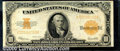 Large Size Gold Certificates:Large Size, 1922 $10 Gold Certificate, Fr-1173, Fine-VF. There is a small s...
