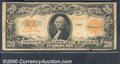 Large Size Gold Certificates:Large Size, 1922 $20 Gold Certificate, Fr-1187, VG. Some minor rust stains ...