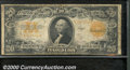 Large Size Gold Certificates:Large Size, 1922 $20 Gold Certificate, Fr-1187, Fine. Moderately soiled thr...