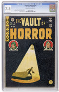 Golden Age (1938-1955):Horror, Vault of Horror #16 (EC, 1950) CGC VF- 7.5 Cream to off-whitepages....