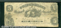 """Confederate Notes:1861 Issues, 1861 $5 Liberty Seated by Eagle; Numeral """"5"""" on Shield; Sailor ..."""
