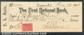 Miscellaneous:Checks, Written in the amount of $22.78 on December 26, 1899, this chec...