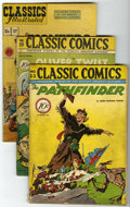 Golden Age (1938-1955):Classics Illustrated, Classic Comics Group (Gilberton, 1944-48) Condition: Average VGunless otherwise stated.... (Total: 5 Comic Books)