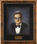 "Movie/TV Memorabilia:Original Art, Steve Allen CENSORED Club Portrait. A 16"" x 20"" oil portrait of the musician, comedian, and former CENSORED Abbott by Picar... (Total: 1 Item)"