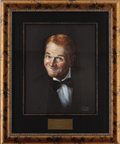 "Movie/TV Memorabilia:Original Art, Red Buttons CENSORED Club Portrait. A 16"" x 20"" pastel portrait of the comedian and actor by Nicholas Volpe, from the walls ... (Total: 1 Item)"