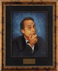 "Movie/TV Memorabilia:Original Art, Sid Caesar CENSORED Club Portrait. A 16"" x 20"" oil portrait of the comedic actor and producer by Picarola, from the walls of... (Total: 1 Item)"