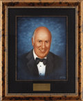 "Movie/TV Memorabilia:Original Art, Carl Reiner CENSORED Club Portrait. A 16"" x 20"" oil portrait of the accomplished actor and sitcom creator by Picarola, from ... (Total: 1 Item)"