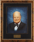 "Movie/TV Memorabilia:Original Art, Don Rickles CENSORED Club Portrait. A 16"" x 20"" oil portrait of thelegendary comedian by Picarola, from the walls of the Be... (Total:1 Item)"