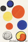 Paintings, ALEXANDER CALDER (American 1898-1976). Kakemono, 1973. Gouache and Ink on paper. 22-3/4 x 15-1/4 inches (57.8 x 38.7 cm)...