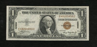 Fr. 2300 $1 1935A Hawaii Silver Certificate. Extremely Fine. Just a hint of folds on this very bright note that made it...