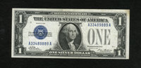 Fr. 1600 $1 1928 Silver Certificate. Very Fine. The paper is bright and solid save for a couple of pinholes where a stam...