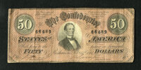 T66 $50 1864.Another attractive example of this colorful issue. Fine-Very Fine