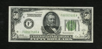Fr. 2101-F $50 1928-A Federal Reserve Note. About Uncirculated. This is a very scarce Fifty from the Atlanta district, w...