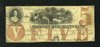 Ashland, IA- Farmers and Merchants Bank $5 Oct. 20, 1857 Oakes 4-4 This vividly printed issue boasts fully remaining sig...