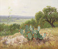 Texas:Early Texas Art - Impressionists, PORFIRIO SALINAS (1910-1973). Untitled Prickly Pear in Bloom. Oilon canvas. 20in. x 24in.. Signed lower left. Porfirio Sa...