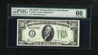 Fr. 2006-A $10 1934A Federal Reserve Note. PMG Gem Uncirculated 66. A screaming gem example of this early Boston FRN tha...