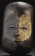 African: , Ngbaka ? or Mbanja ? (Democratic Republic of Congo). Face Mask.Wood, pigment. Height: 13 inches Width:7 ½ inches Depth:4 ...