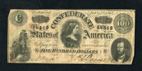 CT65 $100 1864. The paper is wholly intact and pleasing on this Havana counterfeit. Fine+