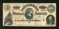 T65 $100 1864. The paper exhibited here is pleasing and wholly original. Very Fine