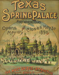 Texas:Early Texas Art - Drawings & Prints, Texas Spring Palace. Poster. 25in. x 20in.. This originalposter was printed to advertise the second season of the Texas S...