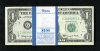 Fr. 1901-G $1 1963A Federal Reserve Notes. Original Pack of 100. Gem Crisp Uncirculated. The notes in this pack are well...