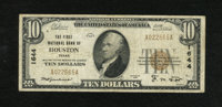Houston, TX - $10 1929 Ty. 1 The First NB Ch. # 1644 This was the third national bank chartered in Texas and it folded...