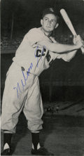 Autographs:Photos, Nelson Fox Signed Photo. Clipped from the pages of a vintagepublication, this classic shot of the Hall of Fame White Sox g...