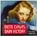 "Movie Posters:Drama, Dark Victory (Warner Brothers, 1939). Six Sheet (81"" X 81"")...."